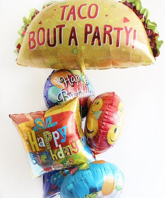 Taco Birthday Balloon Bouquet
