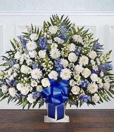 Blue & White Floor Basket