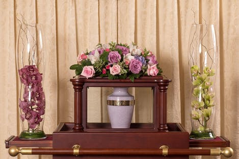 Memorial - Pink Urn Arc